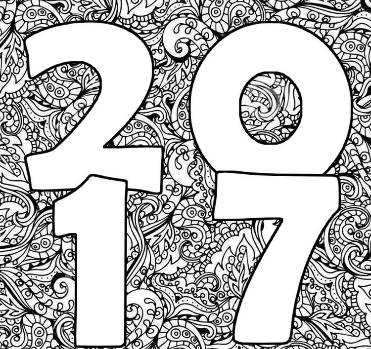 Coloriage Adulte Bonne Annee.Happy New Year 2017 Holiday Happy New Years Coloriage Adulte