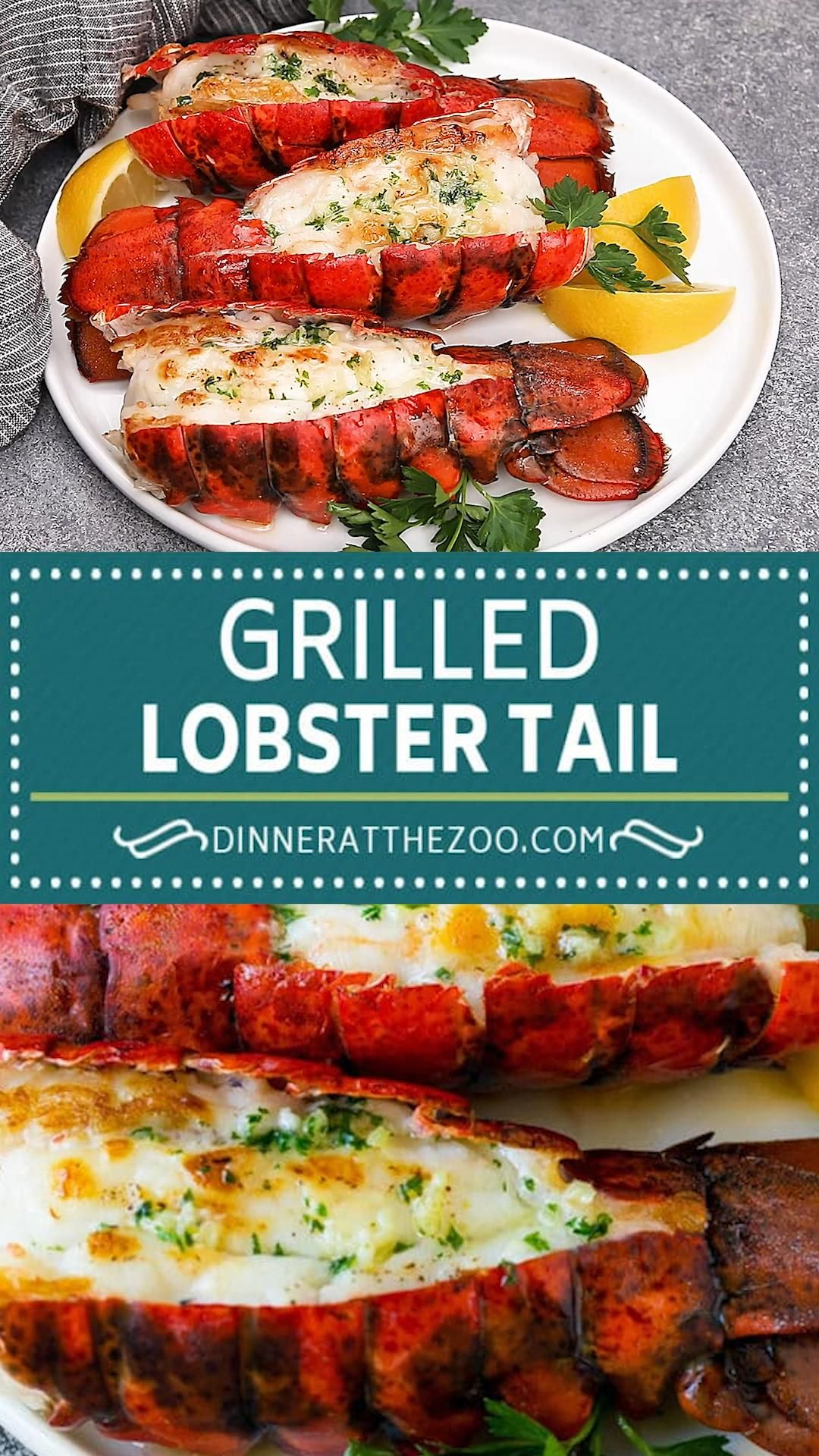 Grilled lobster tails with garlic butter is an easy and elegant meal option!