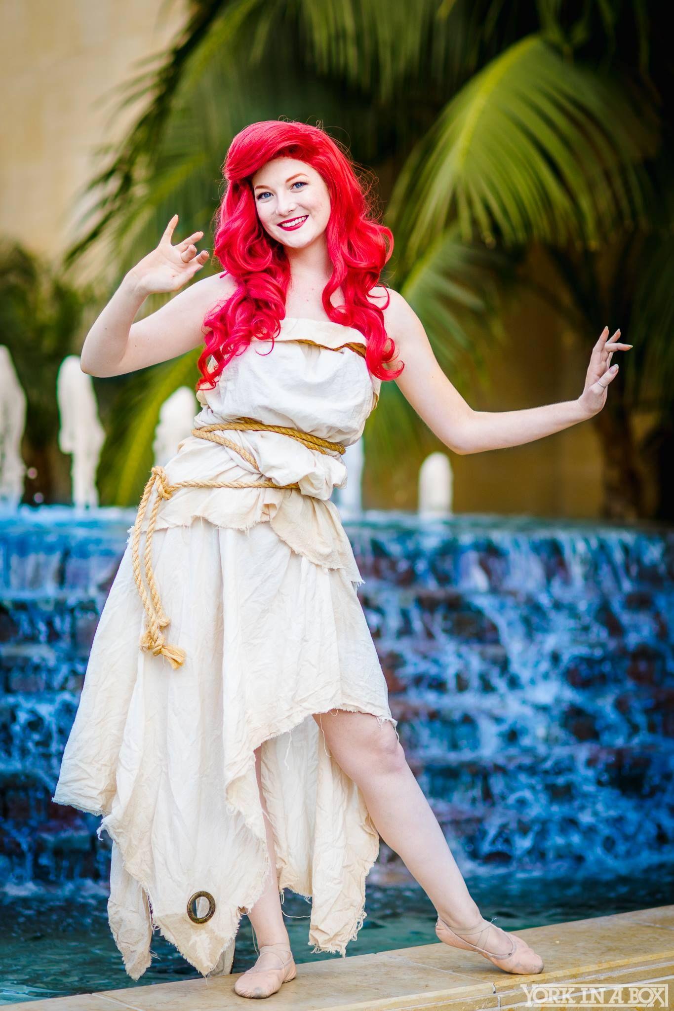 Mermaid Cosplay Women/'s Ariel Inspired Running Costume Sail Dress Costume Little Mermaid New Legs Dress Mermaid Run Costumes