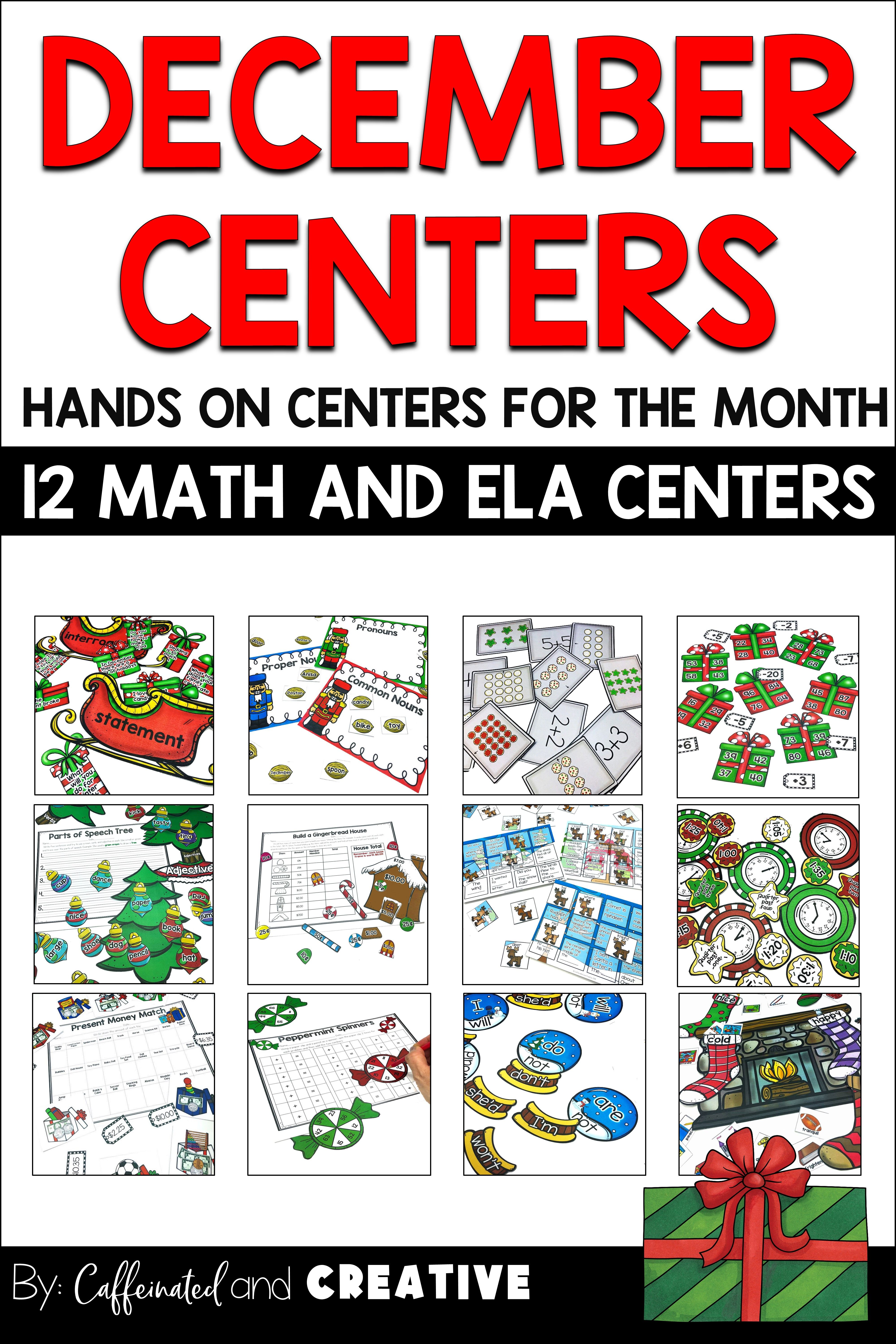 Literacy And Math December Centers For 2nd And 3rd Grade Math Centers Math December Literacy [ 6000 x 4000 Pixel ]