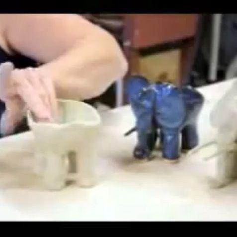 Make an elephant ice cream bowl (or planter). https://m.youtube.com/watch/?v=qKw1HM8Qjio