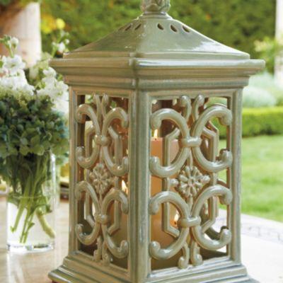 Ceramic serafina lantern by frontgate