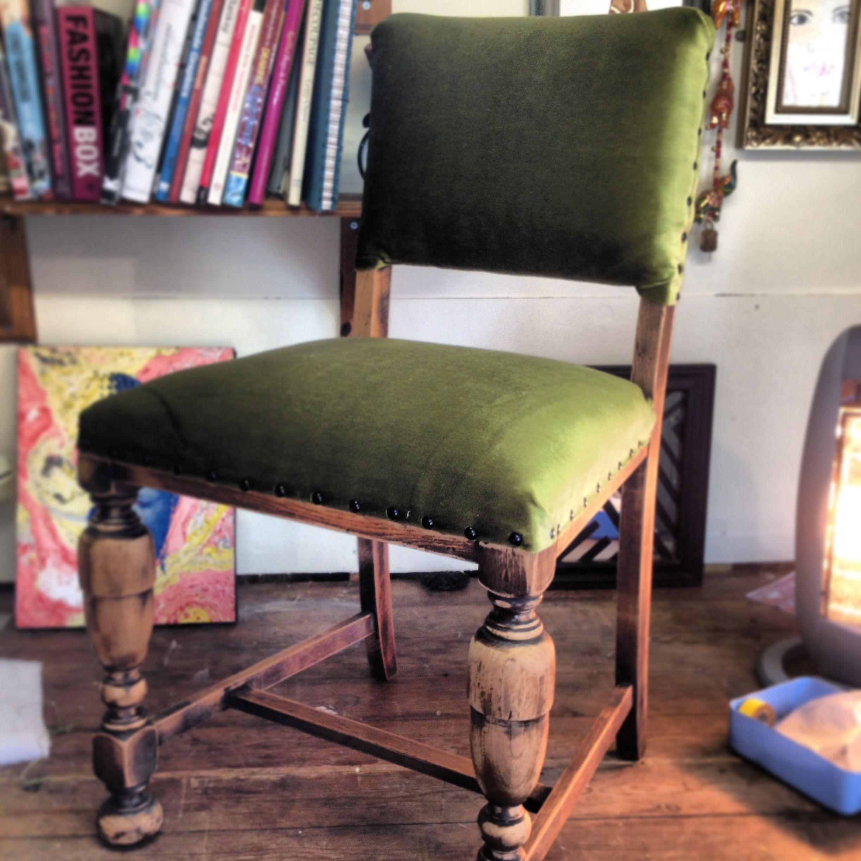 Green velvet dining chair finished velvet dining chairs