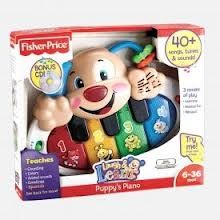 Fisher Price Puppy's Piano Model X9212 baby loves: also important quiet, loud, off option.
