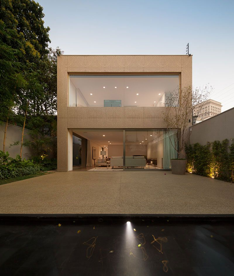 Perfect minimalist house design in sao paolo brazil flat roof rectangular shaped outside plants daily inspirations interior inspiration also rh dk pinterest