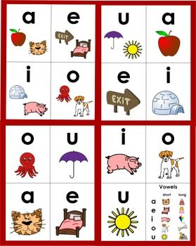 Phonics Vowel Vowel Pattern Flashcards Long Vowels Vowel