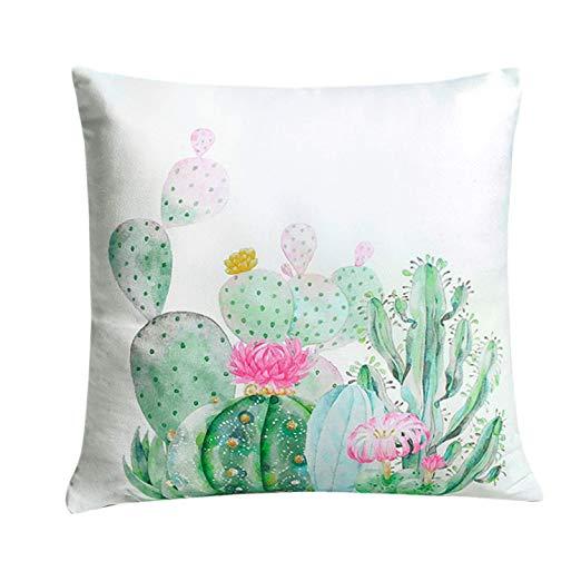 Amazon Com Yinfung Cactus Pillow Covers Succulent Throw Pillow Cover 18x18 Cacti Tropi Cactus Throw Pillows Throw Pillow Covers 18x18 Decorative Pillows Couch