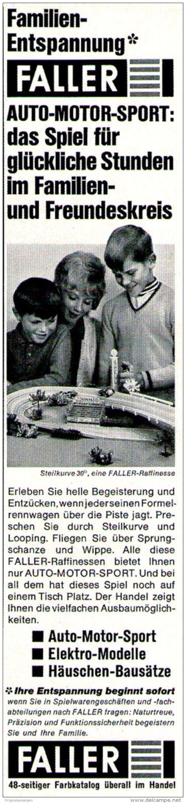 Original-Werbung/ Anzeige 1969 - FALLER - ca. 55 x 240 mm