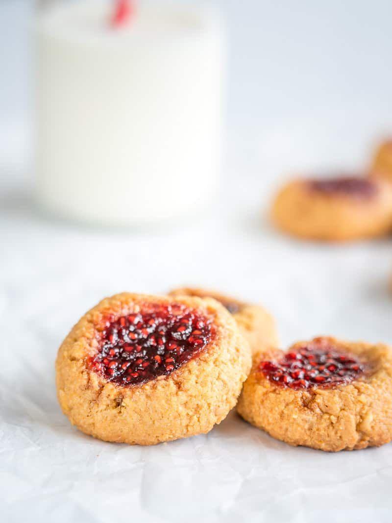 Raspberry Jam Thumbprint Cookies With Flake Salt Recipe Jam