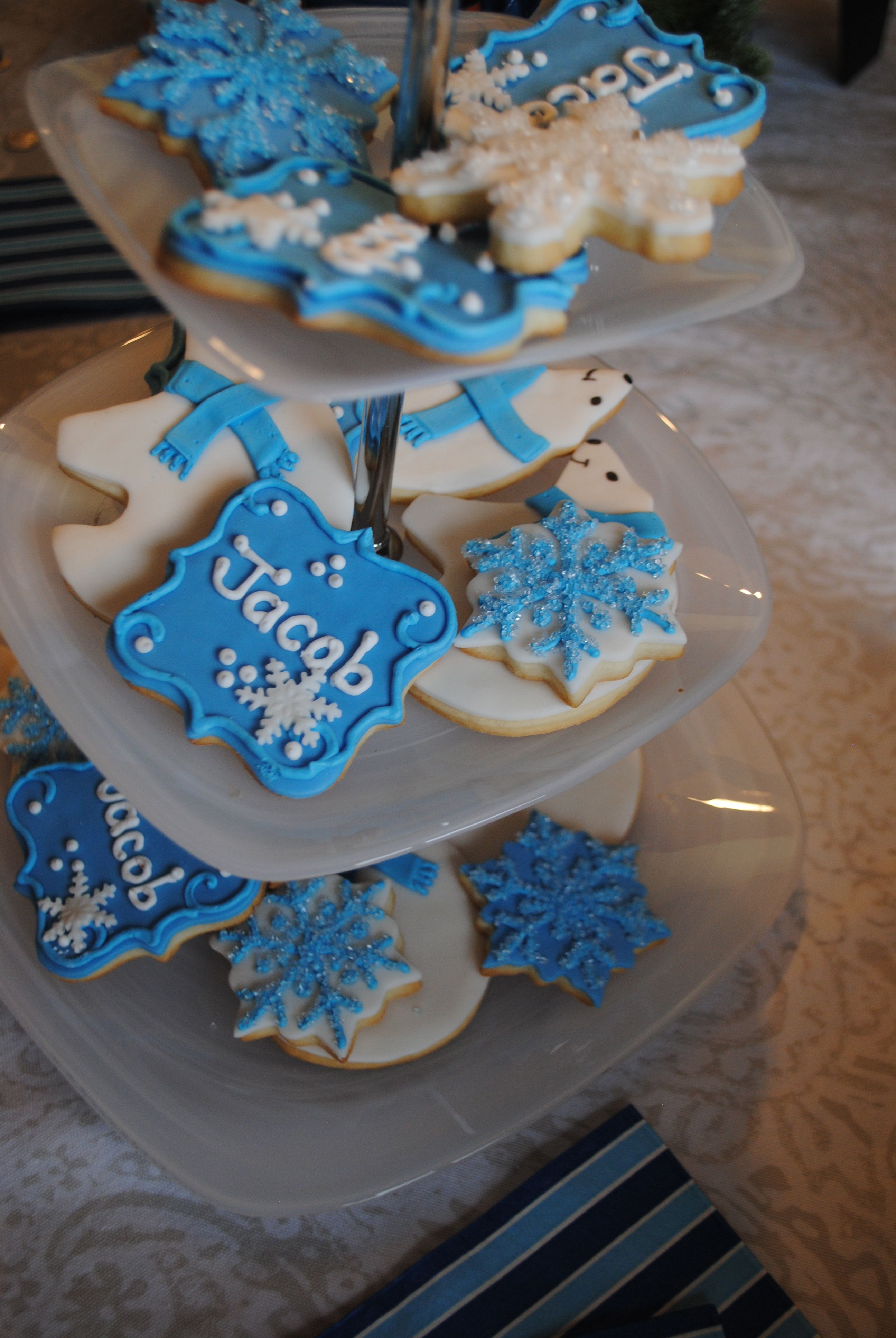 Jacobs Winter One Derland 1St Birthday Party #Yyc #Christmascookies #Firstbirthdayparty #Winteronederland