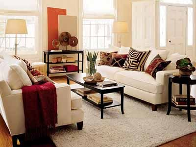 High Quality Black N White Room Design Ideas, Neutral Modern Interior Color Schemes.  Orange Living RoomsRed ... Part 19