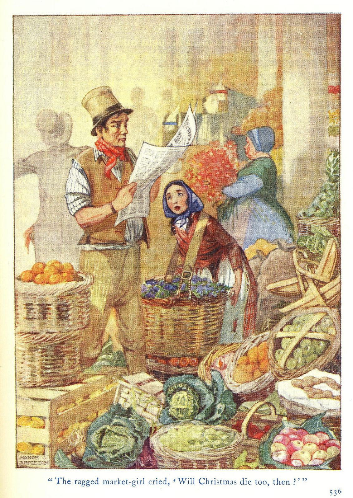 THe Ragged MarketGirl in 2020 Illustration, Stock