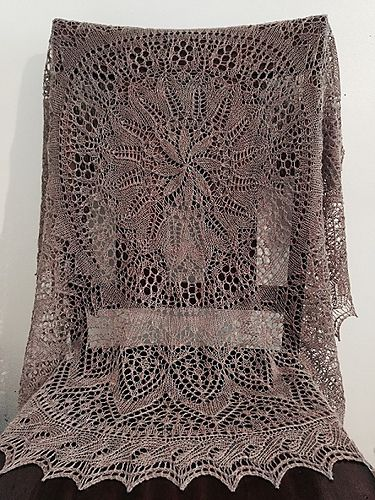 Ravelry Flower And Garden Shawl Pattern By Parry Otter Knitted Or