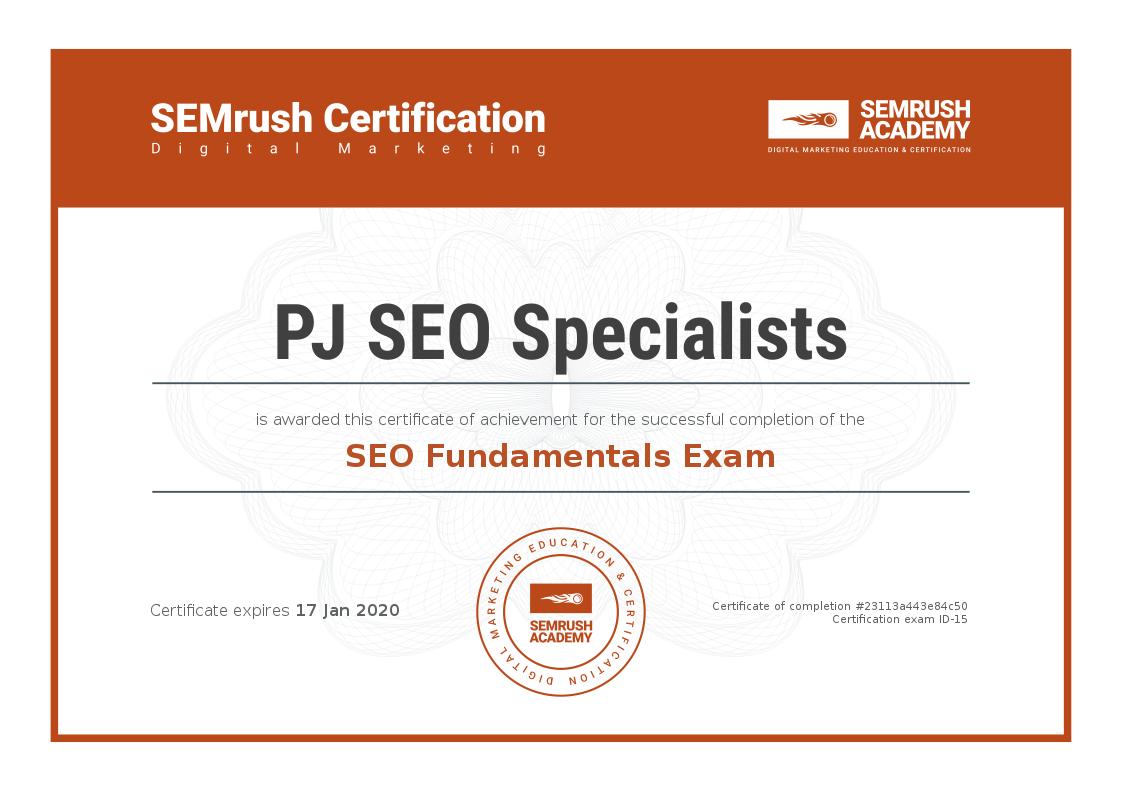 Semrush Academy Certification For Website Seo Online Business