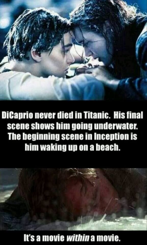 Dicaprio never died in Titanic