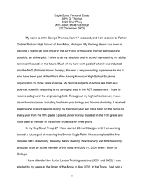 Argumentative Essay Thesis Example Eagle Scout Personal Essay  Troop   Ann Arbor Compare And Contrast Essay High School And College also Business Essay Topics Example Eagle Scout Personal Essay  Troop   Ann Arbor  Hmfm  English Essay Story