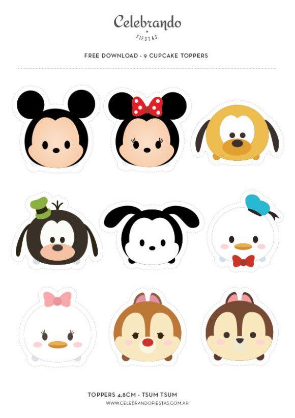 8 Sticker Sheets Disney tsum tsum Characters ~ Crafts Lot Cheap Mickey Scrapbook
