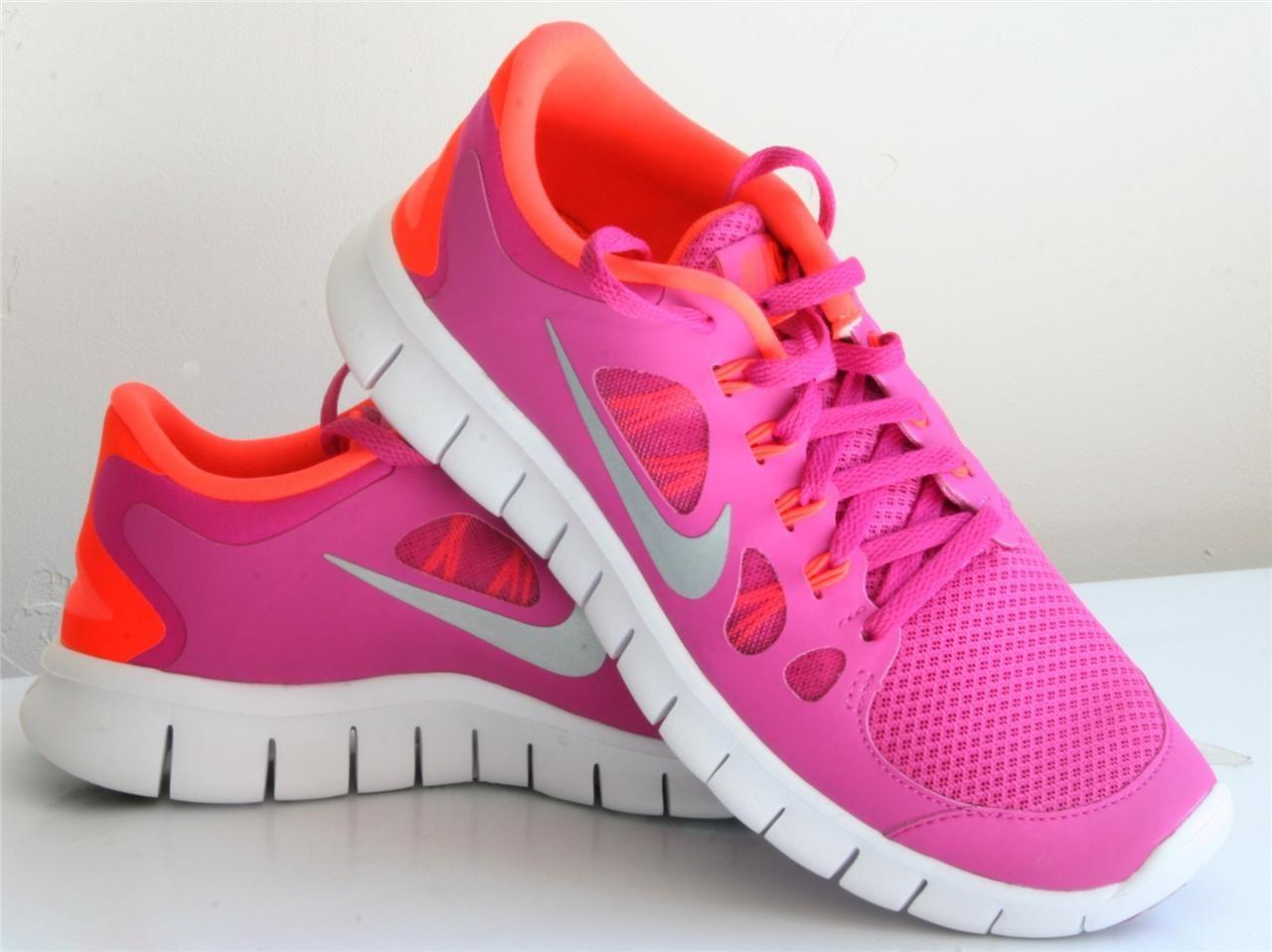 womens nike free run 5.0 orange pink