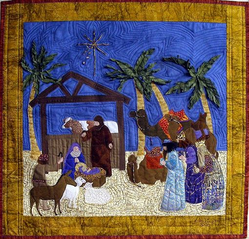 Nativity quilt pattern | Crafts & Needlework | Pinterest ... : nativity quilts - Adamdwight.com