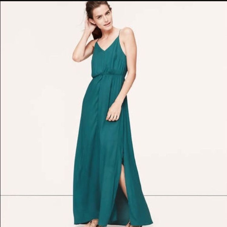 Emerald Green Ann Taylor Loft Maxi Dress Products
