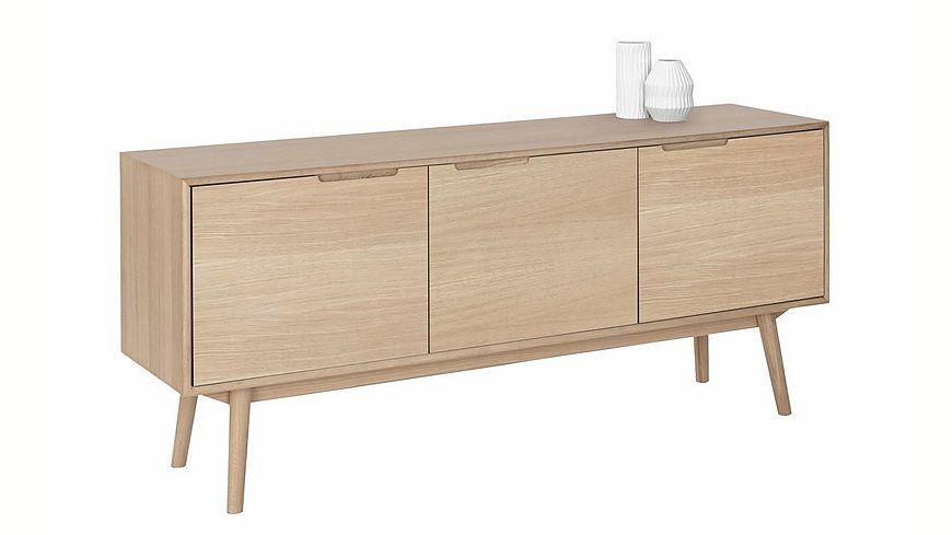 andas Sideboard »Curve«, white oak, im nordischen Design Jetzt bestellen unter: https://moebel.ladendirekt.de/wohnzimmer/schraenke/sideboards/?uid=618bb63a-e875-50b9-b8a5-6a65755826bd&utm_source=pinterest&utm_medium=pin&utm_campaign=boards #schraenke #wohnzimmer #sideboards
