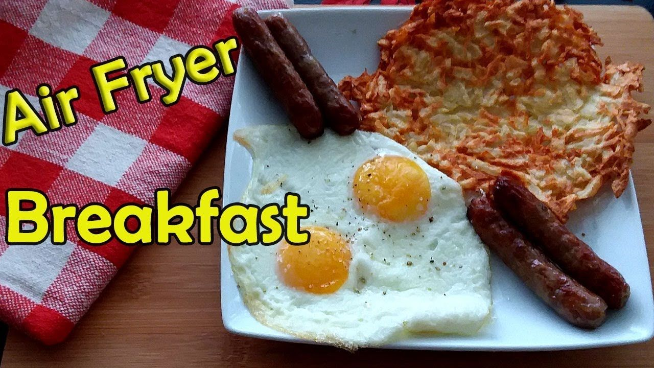 Air Fryer Breakfast Eggs, Hash Browns & Sausage! Egg