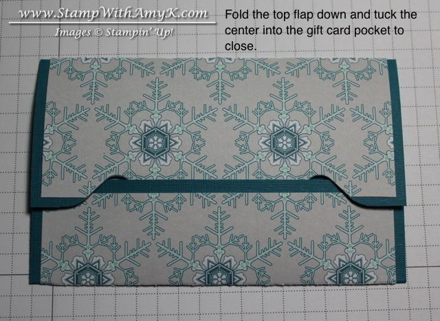Gift Card Envelope Tutorial 4 - Stamp With Amy K