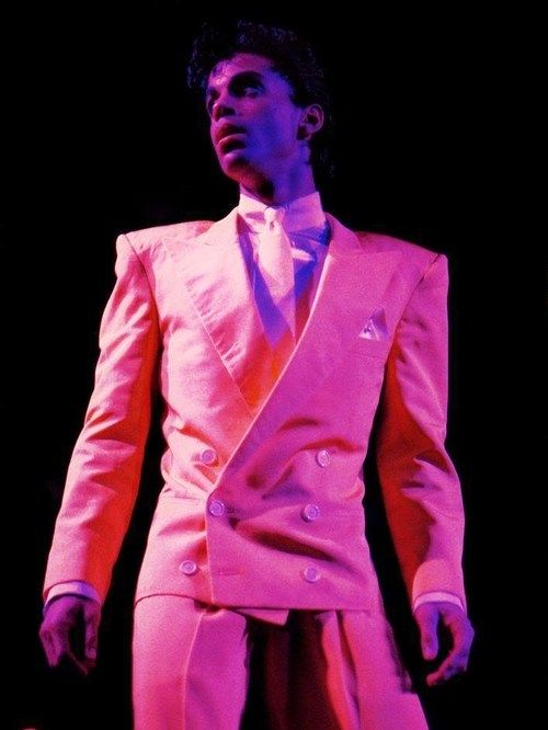 Prince during the '86 Parade Tour (also known as the Under The Cherry Moon Tour)