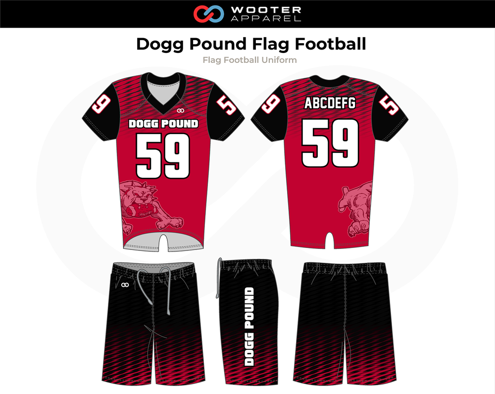Dogg Pound Flag Football Uniforms Jerseys And Shorts Flag Football Football Custom Sportswear