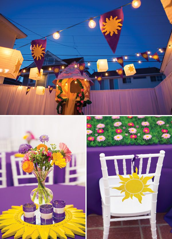 Soooo in love with this omg!!! This is gonna be for one of the girls Bday parties!!!! <3  Beautiful Bright & Cheery Tangled Birthday Party // Hostess with the Mostess®