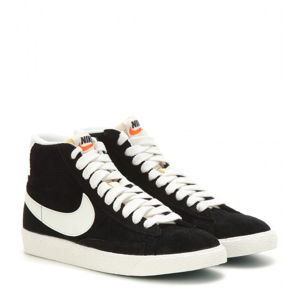cheap for discount e7fd6 404a2 Nike - Nike Blazer Mid Vintage suede high-top sneakers - mytheresa.com