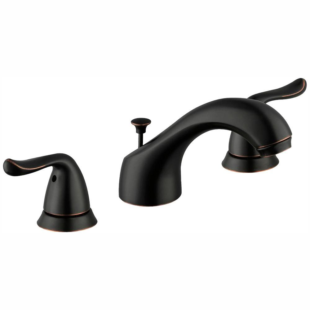 Glacier Bay Constructor 8 In Widespread 2 Handle Bathroom Faucet