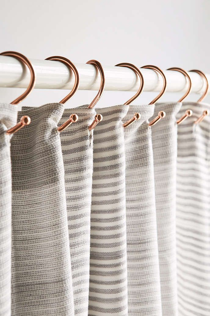 Copper Shower Curtain Hooks Set