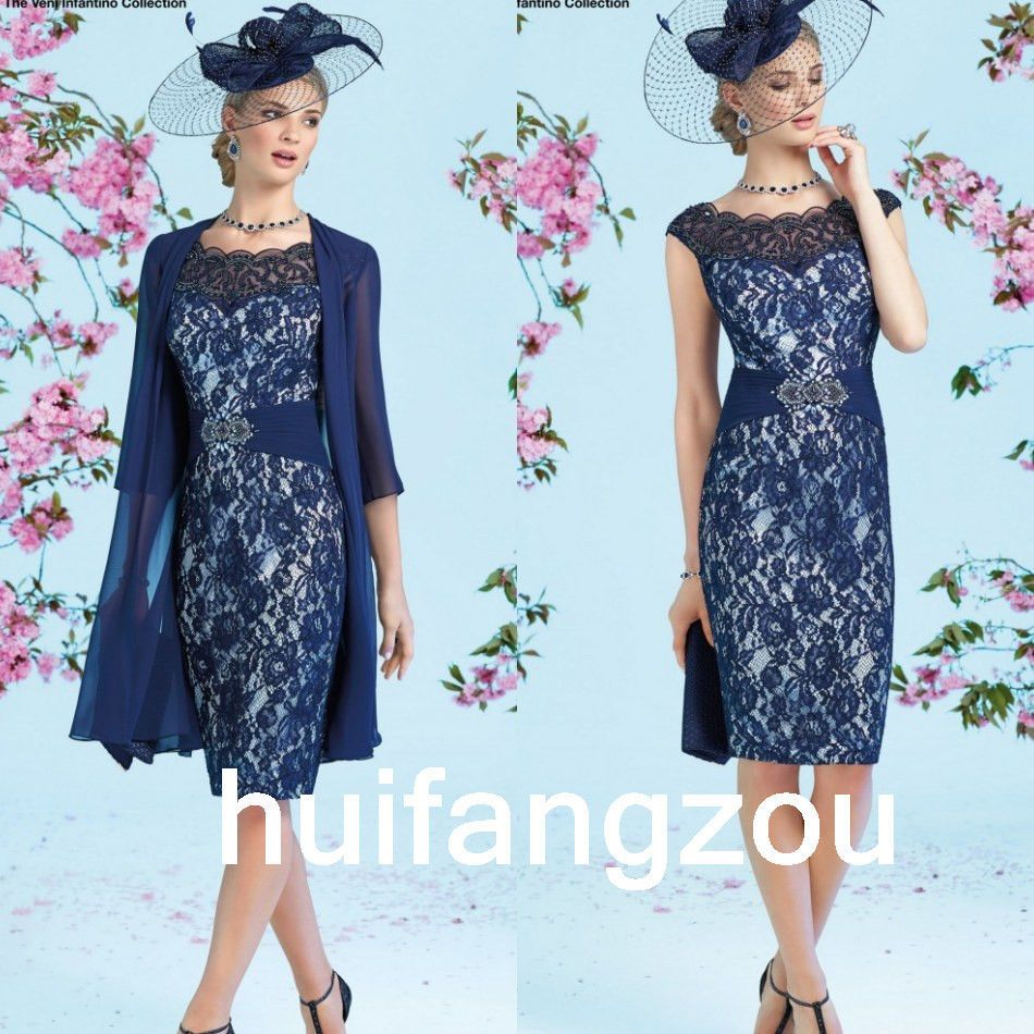 383b77e0dae Formal Mother Of the Bride Dresses Gowns Blue Size 4 6 8 10 12 14 16 ...