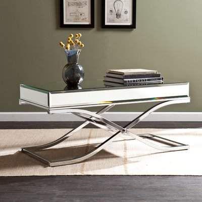 Wayfair Chenaya Mirrored Coffee Table Beauty Snap Pinterest - Wayfair mirrored coffee table