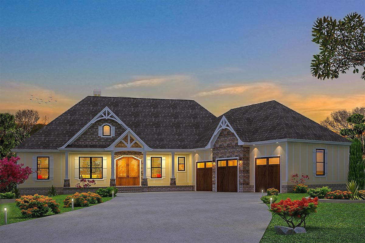 Plan tw exclusive bed craftsman house plan with mainfloor