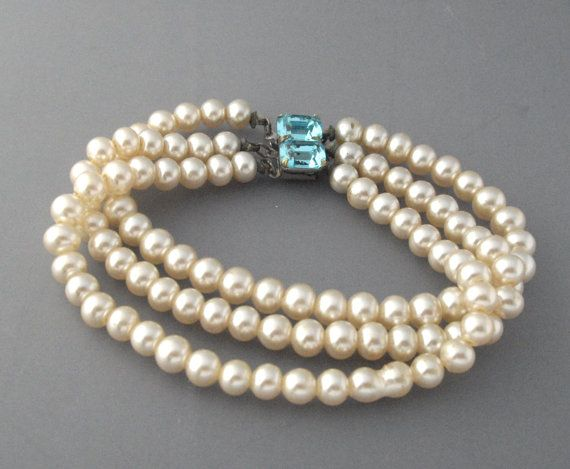 Three Strand Pearl Bracelet Faux By Lisawitmercollection