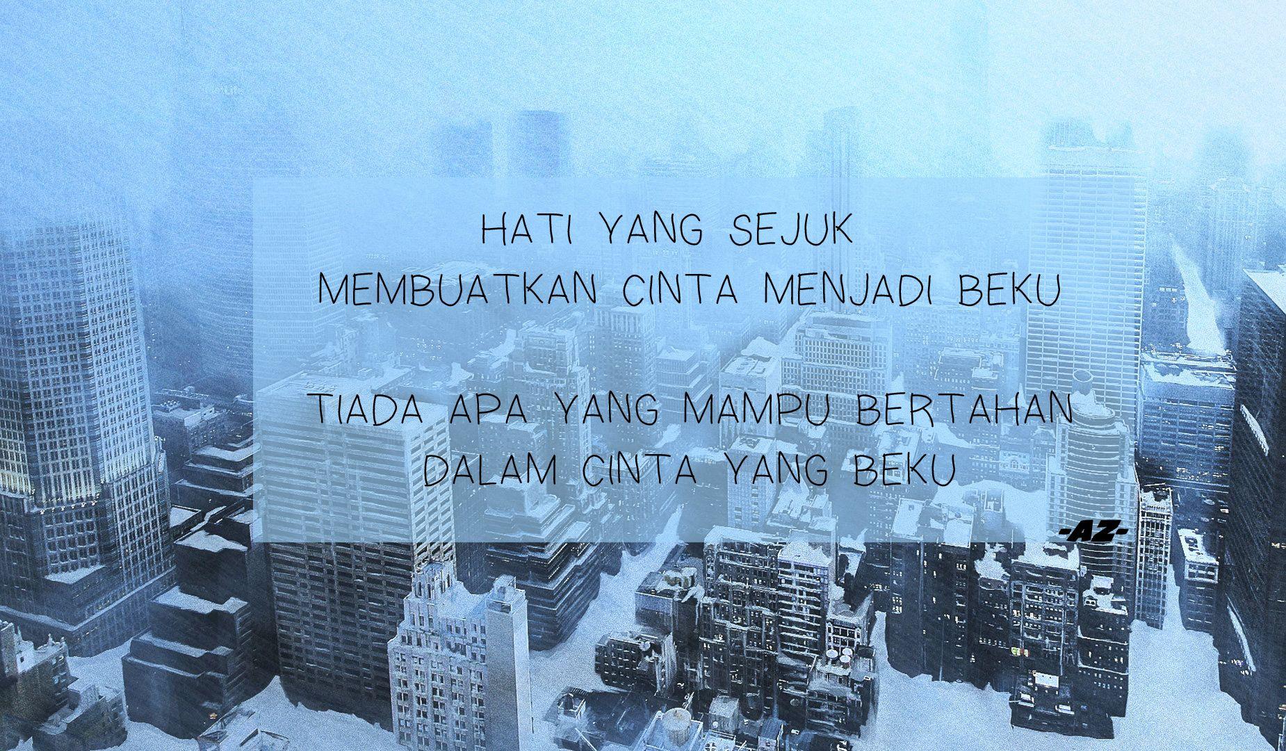 malay quote beku sedih cinta