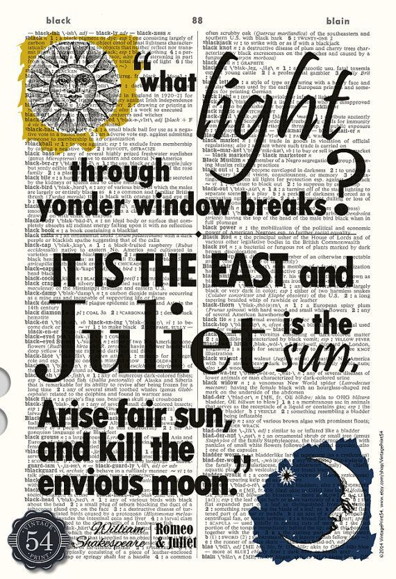 William Shakespeare Quote ROMEO AND JULIET Quote Vintage ...William Shakespeare Romeo And Juliet Quotes