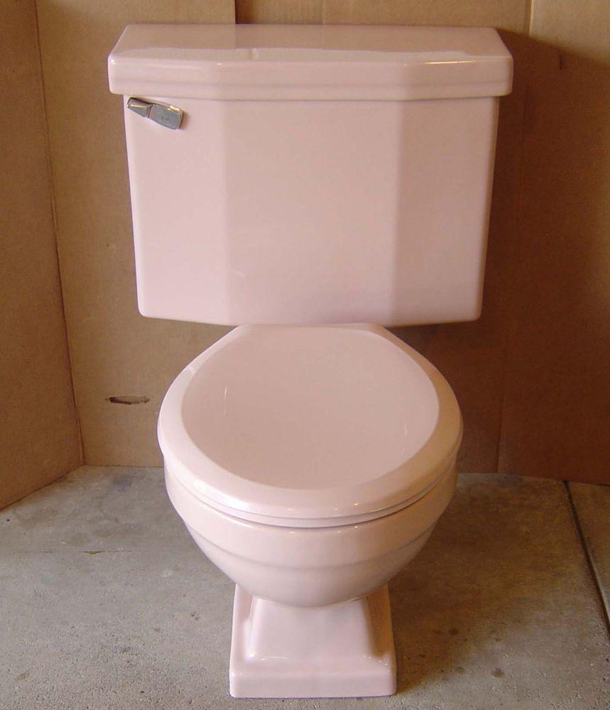 Vintage Bermuda Coral Toilet American Standard Compton