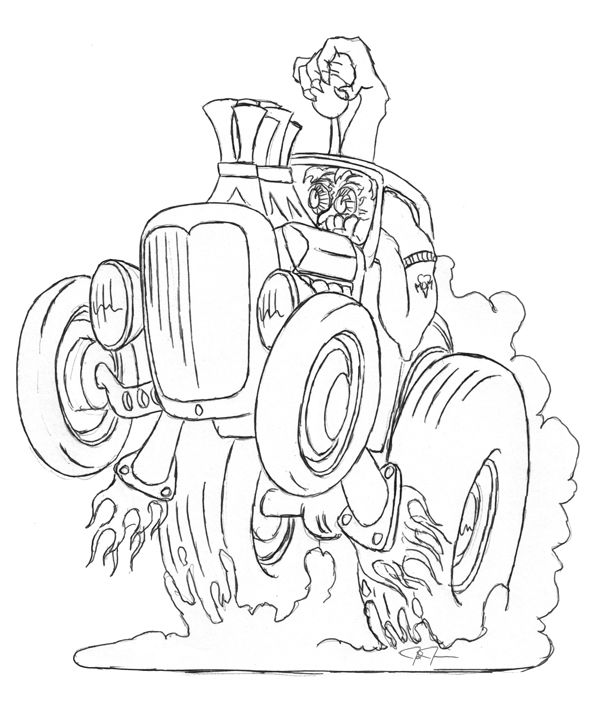 hot rod monster art hot rod engines colouring pages