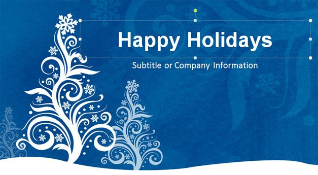 Free Happy Holidays Powerpoint Template  Christmas Powerpoint