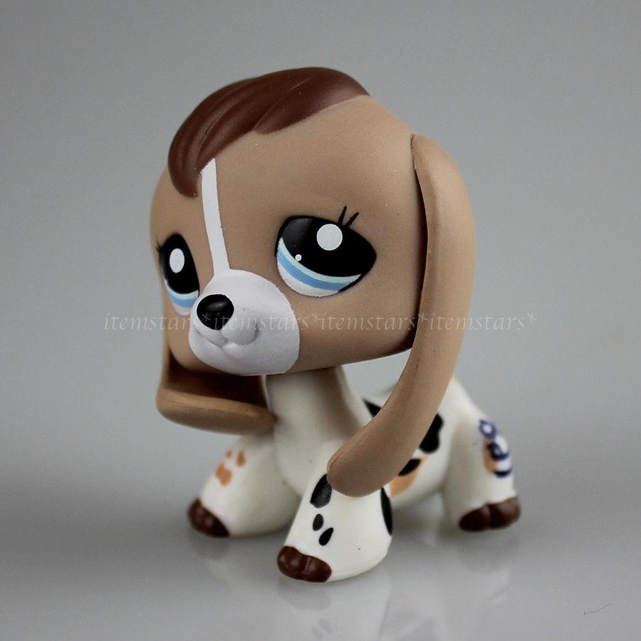 599 Gbp 2207 Littlest Pet Shop Brown Cow Print Baby Beagle