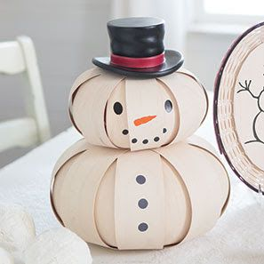December: Longaberger Medium Top Hat Snowman. While the weather outside might be frightful, a party with our whitewashed friend will be so so delightful! Order by December 9th for Christmas delivery! www.shopbasketsnmore.com