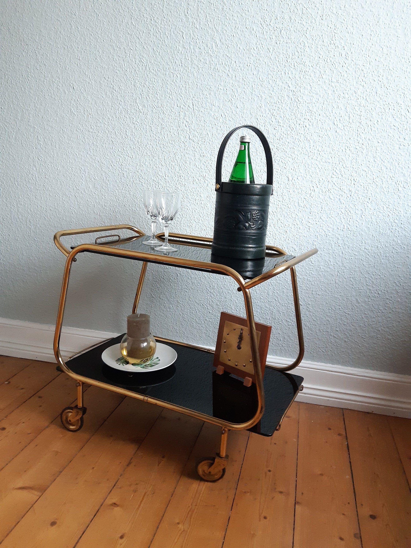 Art Deco Servierwagen Barwagen Teewagen Vintage Unikat Etsy In 2020 Coffe Table Art Deco Deco