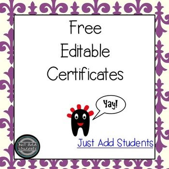 Free Editable Award Certificates Perfect For End Of The Year