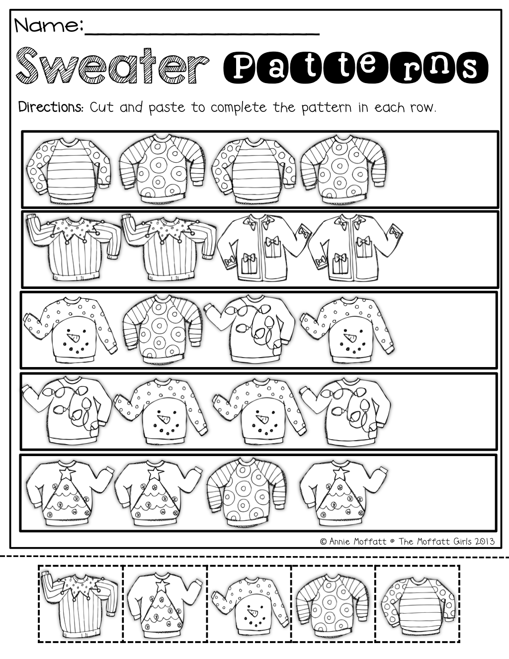 Sweater Patterns Cut And Paste