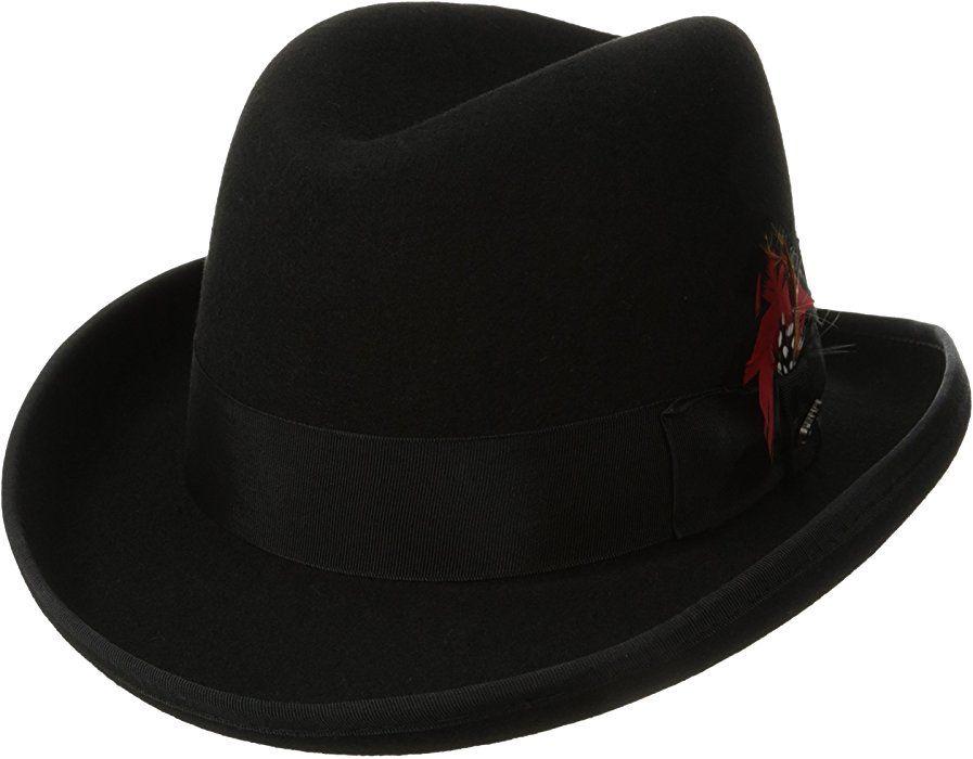 a94fe849903182 Scala Classico Men's Wool Felt Homburg Hat, Black, Large at Amazon Men's  Clothing store