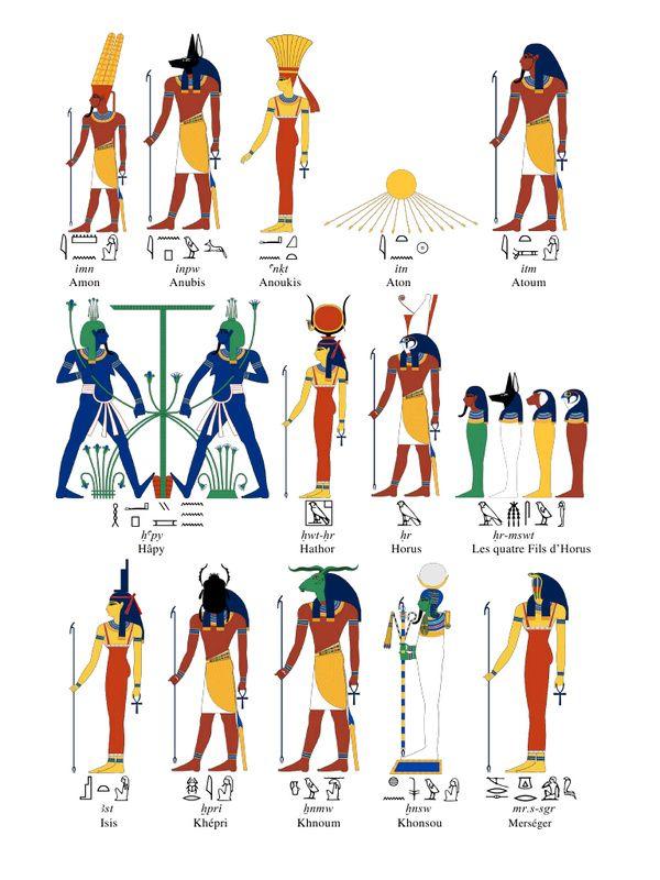 Très le panthéon des dieux égyptiens | Egyptian, Ancient egypt and  FP81