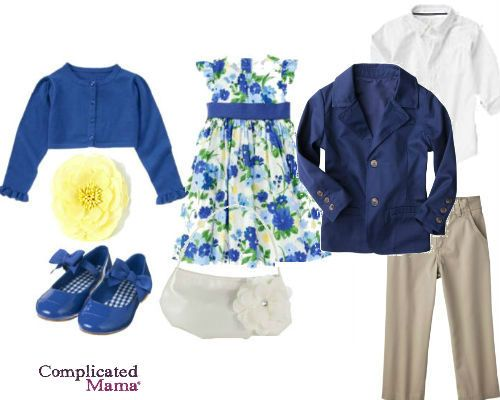 brother sister matching easter outfit 2013 blue yellow - Sibling Style} 7 Easter Outfits For Sister & Brothers Easter